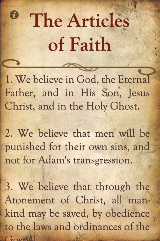 lds mormon articles of faith