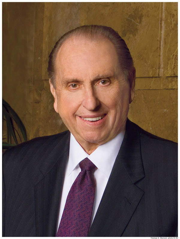 A portrait photo of the Mormon Prophet, Thomas S. Monson.