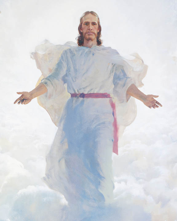 A painting depicting the second coming of Jesus Christ.