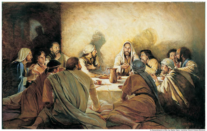 Last Supper Mormon sacrament