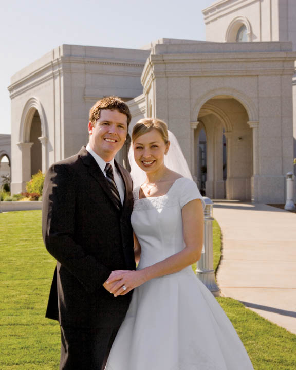 Mormon Temple wedding