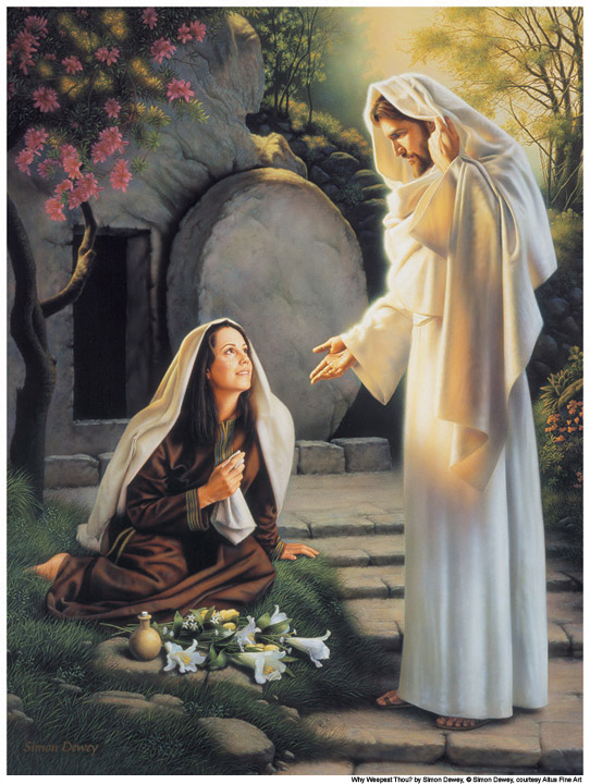 Mary and the Resurrected Jesus Christ Mormon